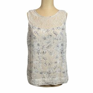 ROMY Sheer Floral & Lace Tank